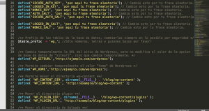 el archivo wp-config.php