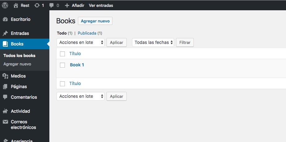 Creando un post type personalizado con WordPress 1