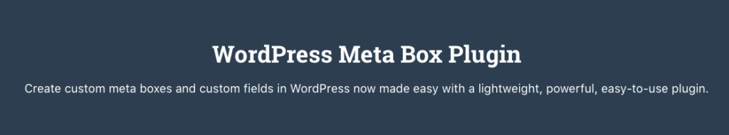 Usando Custom Fields con Meta Box 1