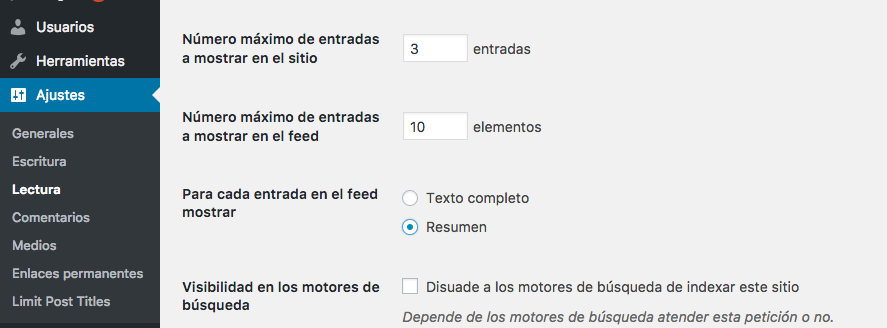 Limitar el post excerpt length de WordPress 0