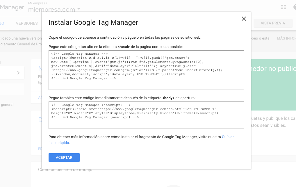 Como agregar Google Tag Manager en WordPress 1
