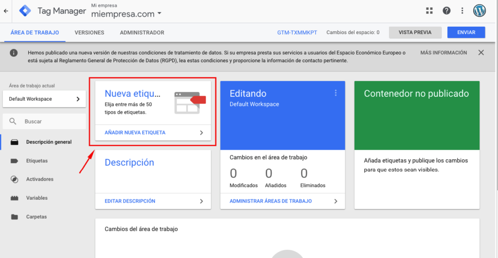 Como agregar Google Tag Manager en WordPress 4