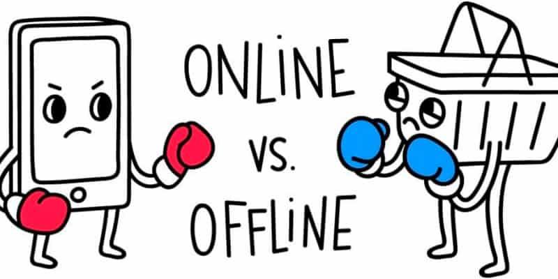 Vender offline vs online
